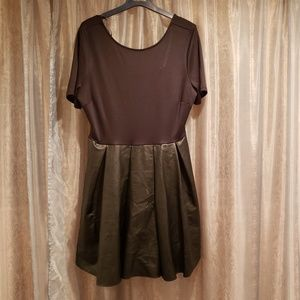FOREVER 21 KNIT FAUX LEATHER DRESS NWT